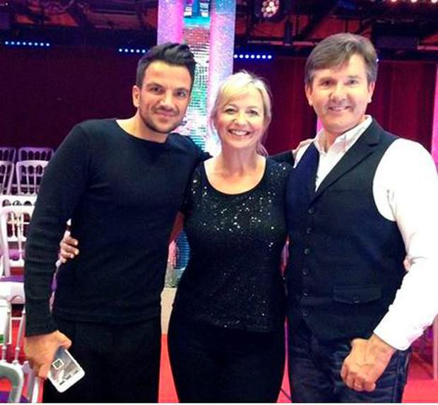 Daniel with Peter Andre and Carol Kirkwood
