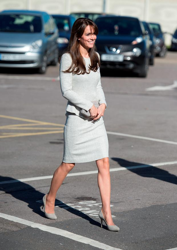 The Duchess of Cambridge arrives at HMP Send, Surrey, for a visit to the Rehabilitation of Addicted Prisoners Trust. PRESS ASSOCIATION Photo. Picture: Andrew Matthews/PA Wire