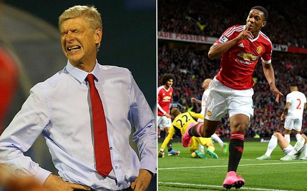 Anthony Martial's agent has questioned Arsene Wenger's assessment of the teenager
