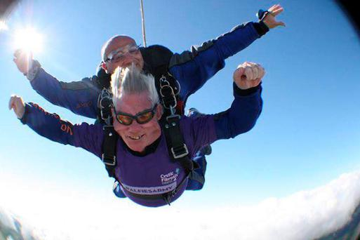 At 73-years-old, Terence is one of the oldest men in the country to undertake a charity skydive.
