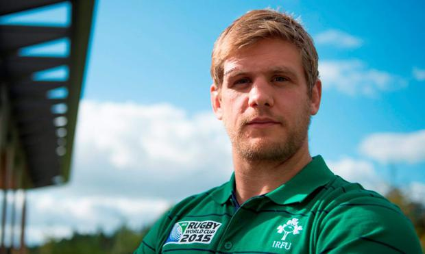 Ireland's Chris Henry. St George's Park, Burton-upon-Trent, England. Picture credit: Brendan Moran / SPORTSFILE
