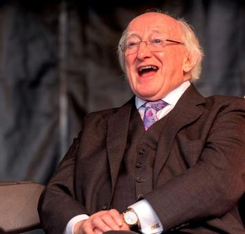 President Michael D Higgins: if he casts aside the theatrics and pomp he can deliver a message that will make people take heed