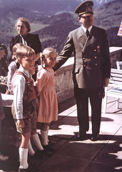 Mountain top: Adolf Hitler at Eagle's Nest, Obersalzberg, a place he used as a retreat to entertain friends and dignitaries.