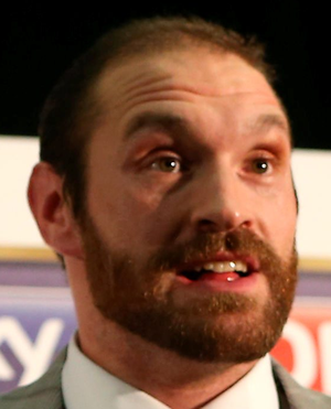 Tyson Fury during a press conference at the Hilton Syon Park, London