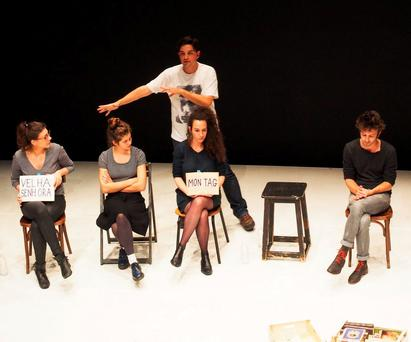 Audience participation at Tino Rodrigues's play