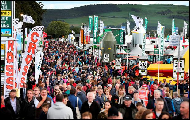 The huge crowds in Co Laois at the National Ploughing Championships