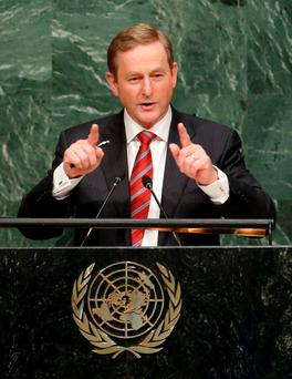 The Taoiseach addresses the UN
