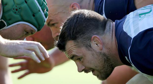 Looking ahead: Cian Healy has done his homework ahead of Ireland's tough Romania test at Wembley