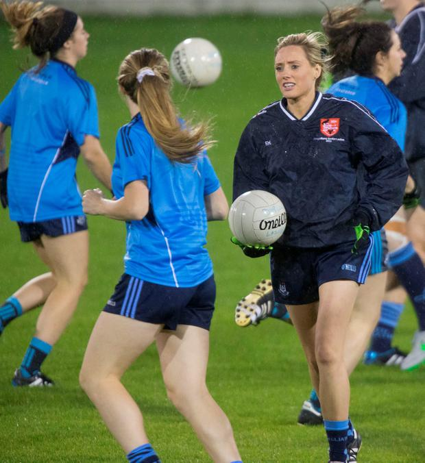 Pictured at The Dublin Ladies GAA Football Squad training at Parnell Park was Fiona Hudson