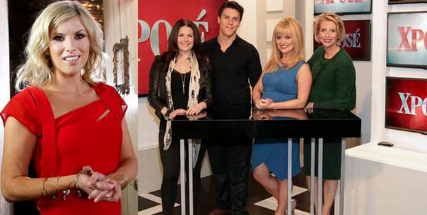 Jenny Buckley (left) and Xpose hosts Lisa Cannon, Peter O'Riordan, Karen Koster and Aisling O'Loughlin
