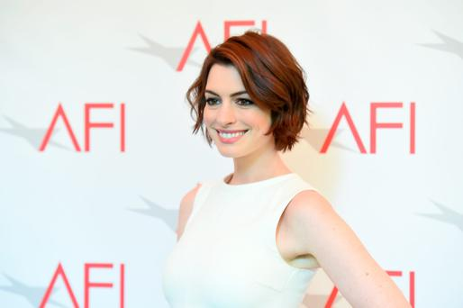 Actress Anne Hathaway attends the 15th Annual AFI Awards at Four Seasons Hotel Los Angeles at Beverly Hills on January 9, 2015 in Beverly Hills, California. (Photo by Jason Merritt/Getty Images)
