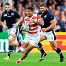 Amanaki Mafi got the first try of the game against Scotland