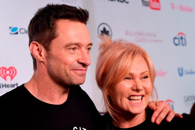 Actor Hugh Jackman and his wife, Deborra-Lee Jackman attend the 2015 Global Citizen Festival to end extreme poverty by 2030 in Central Park on September 26, 2015 in New York City. (Photo by Noam Galai/Getty Images for Global Citizen)