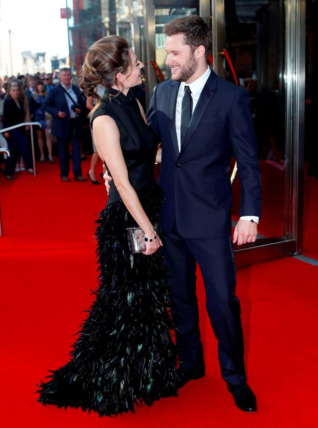Jack Reynor and his partner Madeline Mulqueen attending the UK premiere of Macbeth at the Festival Theatre in Edinburgh, Scotland. Credit: Danny Lawson/PA Wire