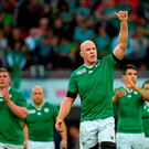 Paul O'Connell, Ireland, following his side's victory. 2015 Rugby World Cup, Pool D, Ireland v Romania, Wembley Stadium, Wembley, London, England. Picture credit: Stephen McCarthy / SPORTSFILE