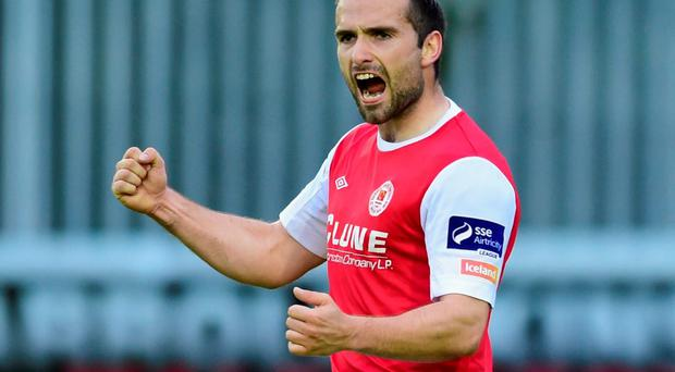 Christy Fagan scored his first goal following his return from a long injury lay-off to re-ignite St Pat's Europa League pursuit