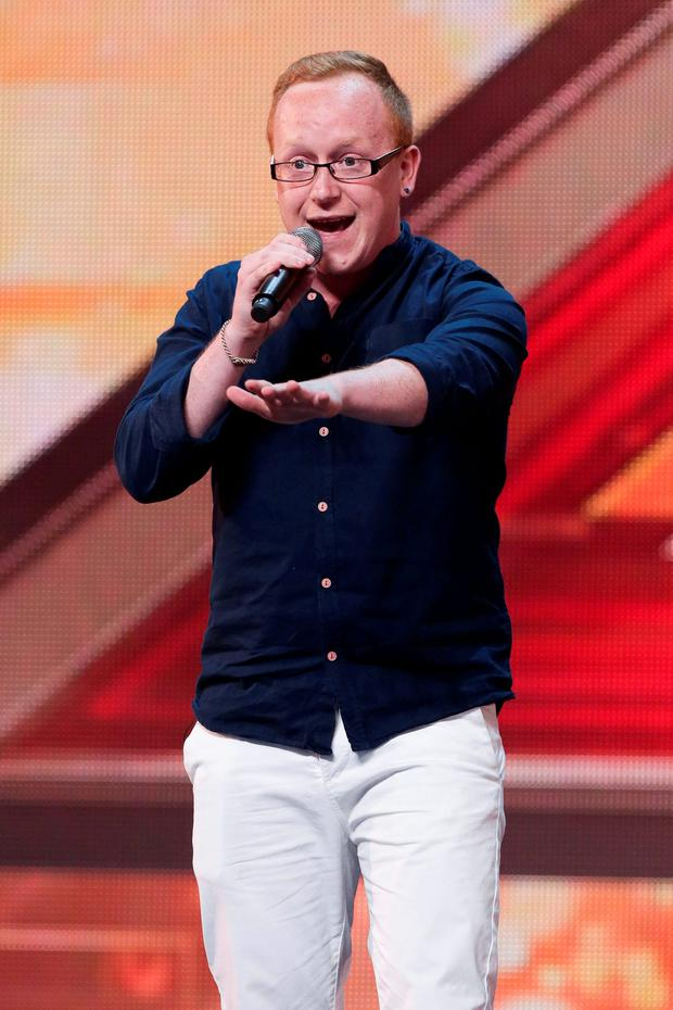 Joseph McCaul during the audition stage for the ITV1 talent show, The X Factor Credit: SYCO/THAMES TV/PA Wire