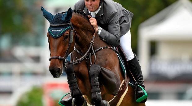O'Connor produced a breathtaking round from the nine-year-old stallion Good Luck which drew gasps of appreciation from the crowd with his spectacular clear round