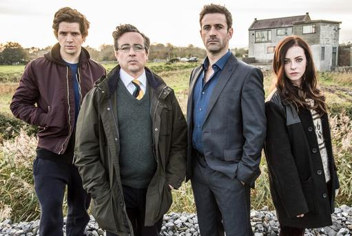 Clean Break (L-R) Damien Molony, Aidan McArdle, Adam Fergus and Kelly Thornton