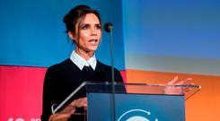 Fashion Designer Victoria Beckham attends the Social Good Summit at the 92nd Street Y on September 27, 2015 in New York City. (Photo by Mark Sagliocco/Getty Images for Global Goals)