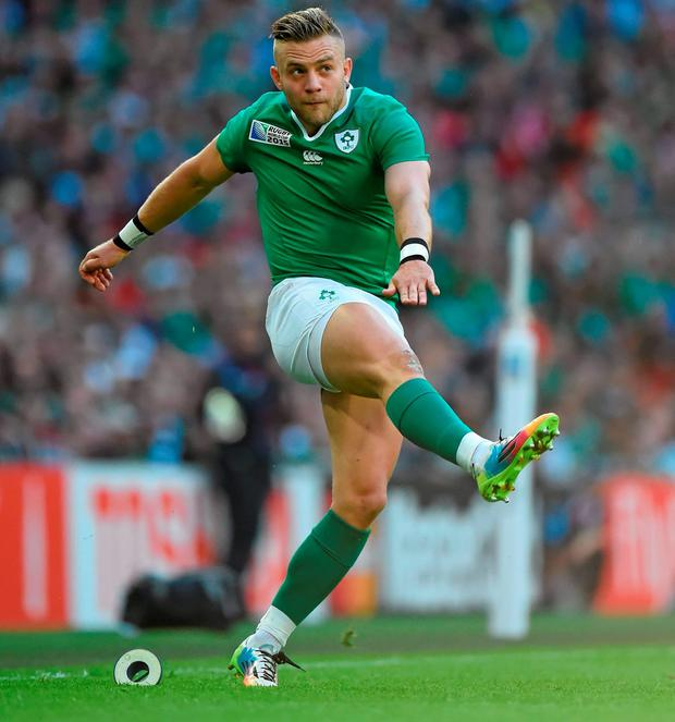 Ian Madigan's 'exquisite' hair during Ireland v Romania at the Rugby World Cup