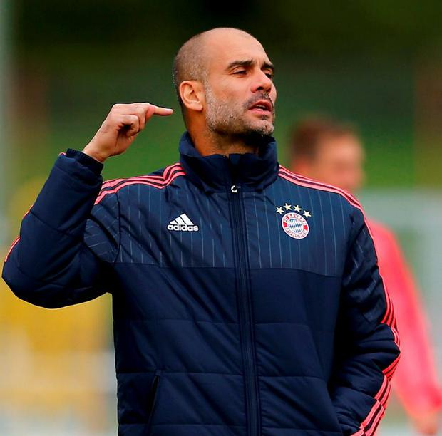 Coach Pep Guardiola of FC Bayern Munich
