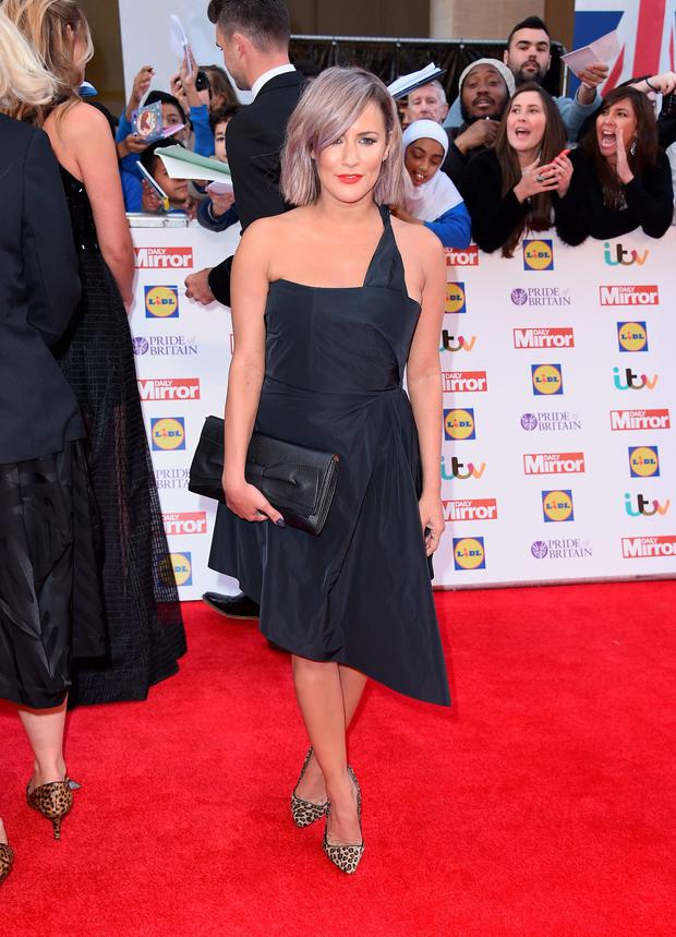 Caroline Flack attends the Pride of Britain awards at The Grosvenor House Hotel on September 28, 2015 in London, England.
