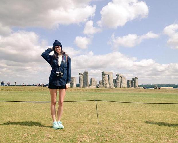 Nelson shared a snap online from a visit to Stonehenge.