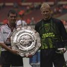 Roy Keane and Peter Schmeichel