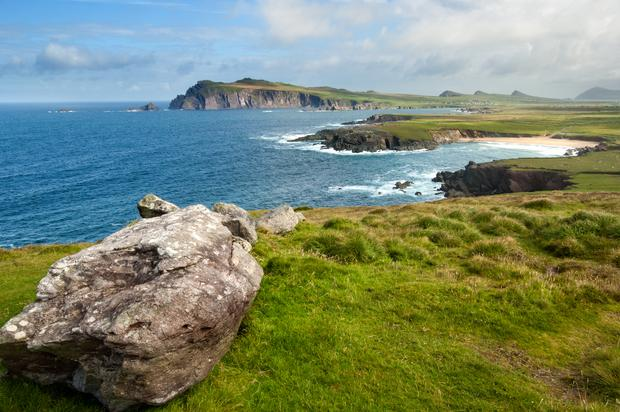 Cliffs on the coastline at Slea Head, Dingle, Ireland