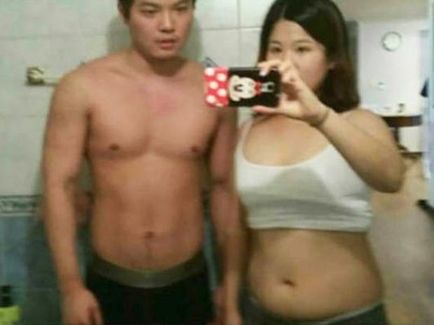 The couple before they altered their appearance Credit: Facebook