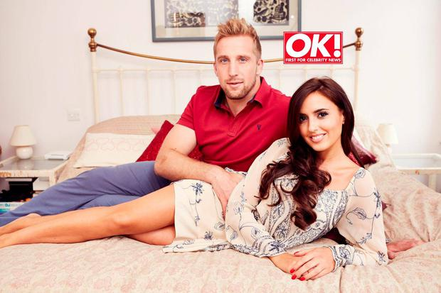 Nadia and boyfriend Dom for OK! Magazine