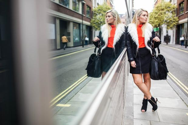 Louise hits the streets at London Fashion Week