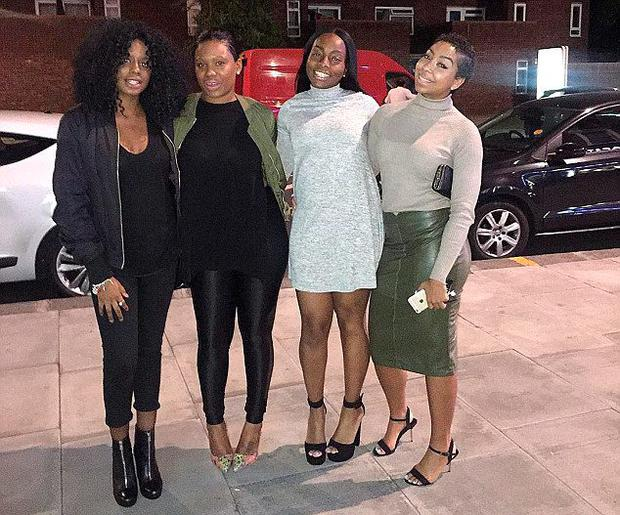 Lin Mei (29) with friends Zalika Miller (26), Reshia McFarlane-Tapping (27), and Tasha Campbell (28) on the night they were refused entry Credit: Zalika Miller/Facebook