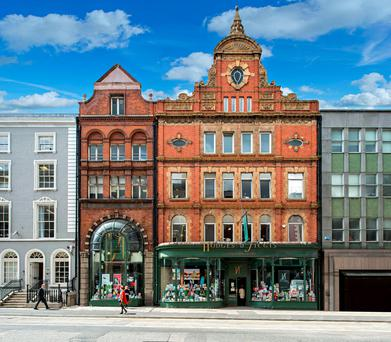 An Irish Life property fund acquired the Hodges Figgis building on Dawson Street in Dublin as part of the Sovereign Portfolio