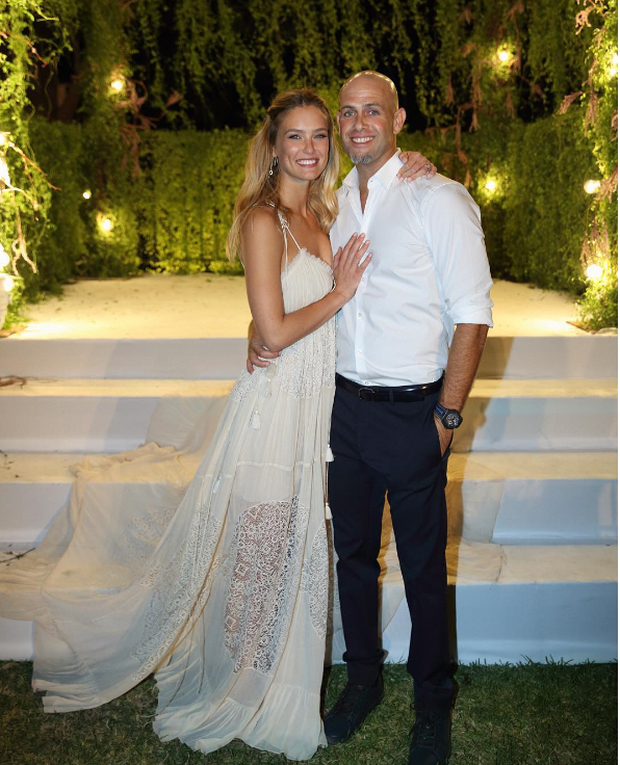 Supermodel Bar Rafaeli wed businessman Adi Ezra in her native Israel in September and stunned in a flowy Chloe gown.