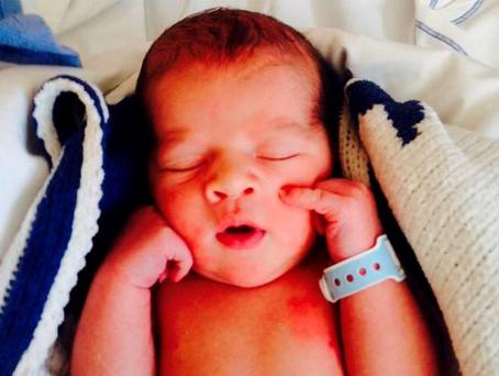 Baby Kian was born six minutes after reaching the CUMH maternity ward (Photo: Facebook/CorksRedFM)