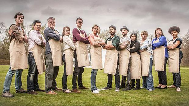 Contestants on the Great British Bake Off