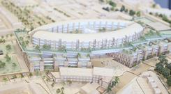 A model of the new children's hospital that was made in August