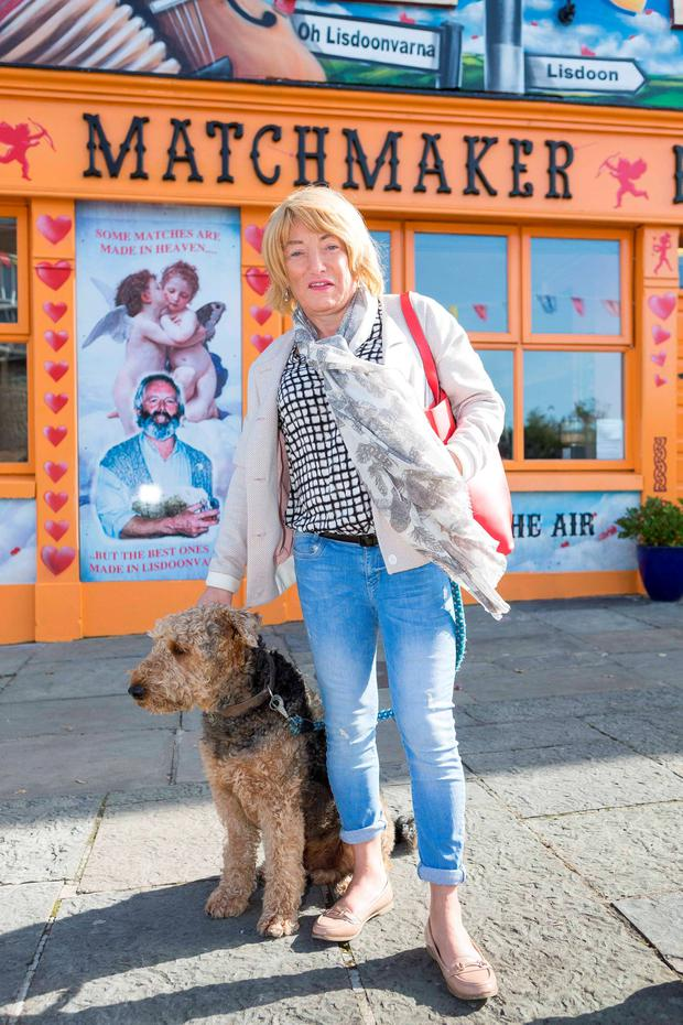 Kellie Maloney with 'Louis' enjoying the matchmaking festival in Lisdoonvarna yesterday
