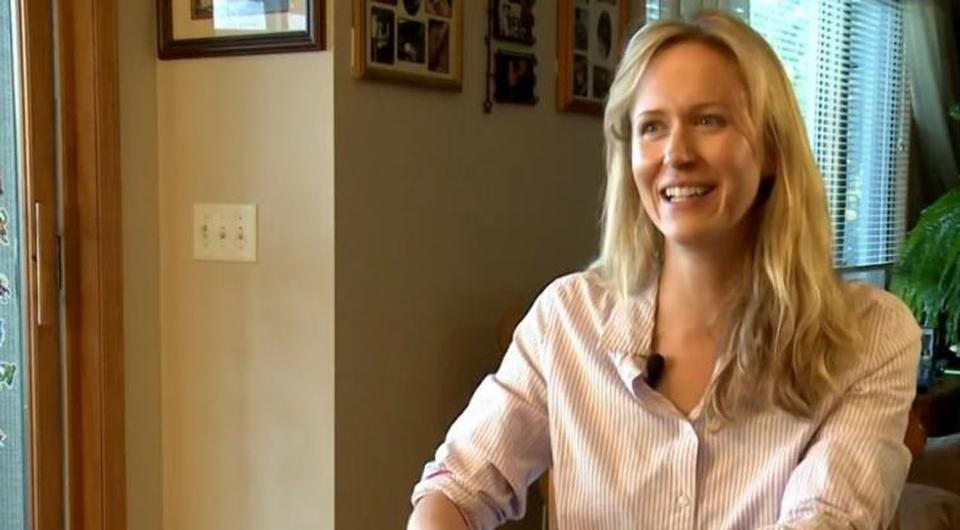 Jessica Baker received a bill for the wedding dinner she skipped. Picture: KARE 11/Facebook