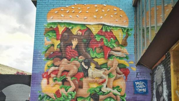The mural in all its glory