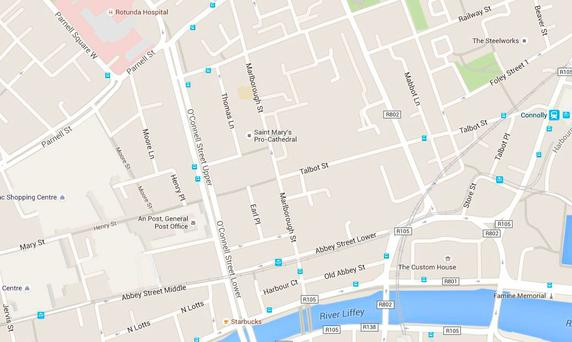 Marlborough Street was set to be closed from Parnell Street to Cathal Brugha Street
