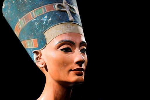 A 3,000 year-old bust of Queen Nefertiti, discovered in 1912 Credit: Neues Museum