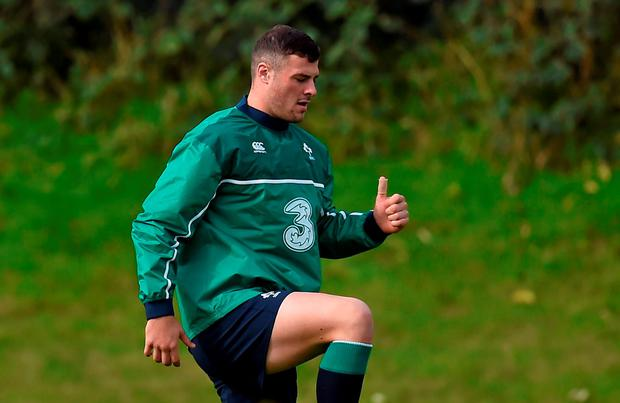 Ireland's Robbie Henshaw in action during squad training