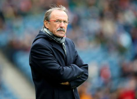 Italy's French coach Jacques Brunel