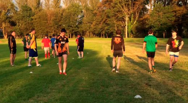 Listowel's U-18 squad in training