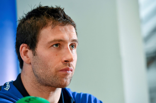 18 December 2014; Leinster's Kevin McLaughlin during a press conference ahead of their Guinness PRO12, Round 10, match against Connacht on Friday. Leinster Rugby Press Conference, RDS, Ballsbridge, Dublin. Picture credit: Matt Browne / SPORTSFILE