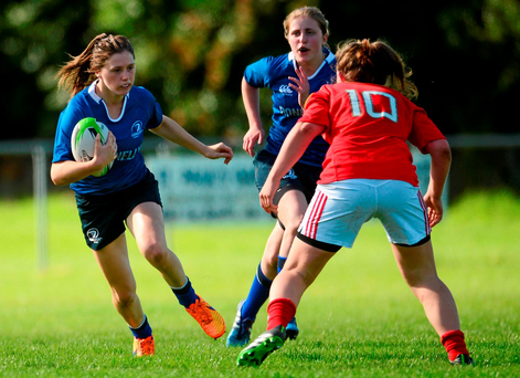 Mullingar's Katie Heffernan bursts forward for the Leinster U-18s