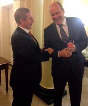 Enda Kenny and Ivan Yates